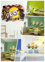 Wholesale Mix Order Removable D Cartoon Wall Stickers for Kids Nusery Rooms Decorative Wall Decals Home Decoration Movie Wallpaper Wall Art d Window