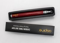 vv - Hot Aspire CF VV mah Battery E Cigarette eGo carbon fiber Twist batteries for aspire mini nautilus starter Premium kit vs vv g power