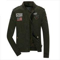 Hombres chaqueta de bombardero de la Fuerza Aérea de Estados Unidos MA1 estilo militar de color caqui del Ejército Negro Verde Slim Fit táctico aeronautica militare Chaqueta AY891