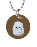 baby dog tags necklace - I am Cute Lovely Baby Owl Customized Colorful Design round Dog Tag Necklace Aluminum Tag for Animal Pets Tag