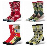 Wholesale 2015 Stance socks UNISEX socks Sport Stocking Skateboarding socks Gym socks superheros symmetrical pattern dancing stance socks mix styles M
