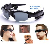 Wholesale New GB Headset Sunglass Mp3 Player Mp3 Sunglass Player MP3 Sun Glass B19 SV006917