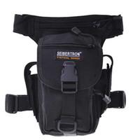 Wholesale Seibertron Outdoor MOLLE Tactical pockets leg bag D For camping travel climbing Brown Black