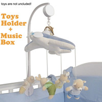 baby music boxes - Rotating Baby Crib Cot Bedding Set Mobile Bed Bell Toys Holder Arm Bracket Wind up Music Box Without dolls and toys