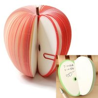 apple writing paper - Super Cute Fruits Design Memo Pads Small Paper Colors apple Pear Orange Writing Notebook Personal Planner Stationery Notes Gifts