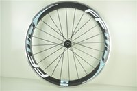 racing bicycle - 2014 Powerway R13 Cycling Carbon Fibre Wheels blue color Wheels Racing Bicycle Front and Rear with alloy brake surface carbon Wheels