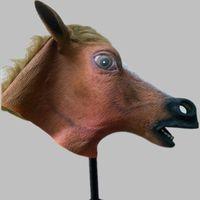 latex cartoon - Latex Full Head King Mask Vivid Latex Cartoon Animal Animated Horse Mask