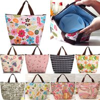Wholesale New Arrivals Insulated Tote Lunch Bag Box Cool Canvas Thermal Handbag Food Drinks Holder BX146