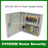 Wholesale 9CH CCTV Security Camera Power Supply Box DC12V A With Fuse