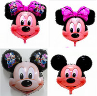 Wholesale Aluminum Film Balloon Minnie Mickey Foil balloons latex Toy Birthday Party Supplies Decoration Christmas Gifts aluminium ballons R1071