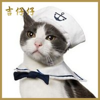 Wholesale Pet dog hat navy sailor suit tie David Teddy Bichon dog clothes pet supplies dog cat JIA327