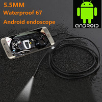 Wholesale 6 LED HD p mm mm lens Android endoscope M Micro USB waterproof endoscope Camera Snake Tube with retail box