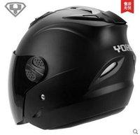 achat en gros de yohe casco moto-Gros-Livraison gratuite 2015 nouveau Yohe moitié du visage casque de moto hommes femmes été casque de vélo électrique casco motocross capacete