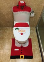acrylic bathroom rug set - Christmas Decorations Santa Snowman Toilet Seat Cover and Rug Set Bathroom Set set High Quality