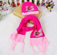 Wholesale New eras hats Frozen Children s hat girls scarf gloves two piece Suitable for T ST31
