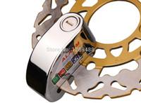 Wholesale 7mm Silver Waterproof Motorcycle alarm disc lock Motorbike Scooter Wheel Disc Brake Lock Security Anti Thief Alarm A3