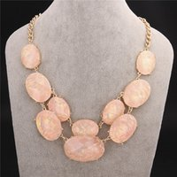Wholesale Beautiful design gold plated resin statement Bib collar necklace fashion jewelry classic Christmas party gifts for women