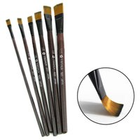 Wholesale 2015 New set Brown Tip Nylon Paint Brushes For Art Artist Supplies