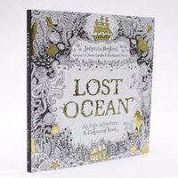coloring book - 50 set Lost Ocean pencil An Inky Treasure Hunt and Coloring Book Adult Children Relax Graffiti Painting Book