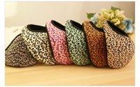 Wholesale Women Girl Lady Winter Red Leopard Striped Earmuffs Earflap Ear Warmer