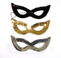 Wholesale Sexy Cat Women Sequin Shining Eye Mask Fancy Dress Masked Ball Masquerade Party