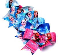 Wholesale Sweet Girl s Bowknot Hair Clips Barrettes Frozen Elsa Anna Children s Hair Accessories COSPLAY Party props