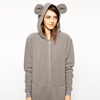 bear ears clothing - Autumn Winter Cute Bear Ears Jumpsuit Women Full Sleeve Long Jumpsuits One Pieces Sweatshirts Lady Casual Clothes Overalls