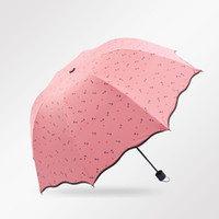 Wholesale Women s Folding Umbrella Navy Style Arched Shape Foldable Parasol Summer Windproof Rainproof Accessories H208