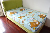 bear bedspreads - Bedspread singleplayer relaxed bear cotton fitted sheet x190 boy cotton fitted sheet