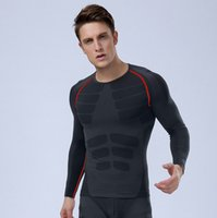 plain jerseys - Compression baselayer men fitness muscle bodybuilding Plain quick drying clothes sport crossfit Running Jerseys shirts