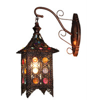 beaded sconce - Vintage Beaded Balcony Wall Sconces Creative Acrylic Hallway Corridor Wall Lights Bedsides Living Room Wall Lamp