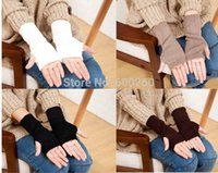 Wholesale Hot Sale new Women Knitted Fingerless Winter Gloves Unisex Soft Warm Mitten Gloves free shippng
