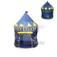 Wholesale 2014 Hot Sales Kids Baby Children Portable Tent house hut Play Toy Blue Pink