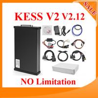 Wholesale Latest V2 Kess V2 OBD2 Manager master Tuning Kit without No token limited ECU reprogramming tool V2 Kess FW FW V4 DHL fre