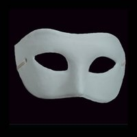 Wholesale Party White Half Face Mask Halloween blank paper mache Zorro Mask DIY Hip Hop mask Hand painted masks Christmas gifts