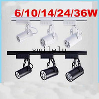 Wholesale LED track lights w5w7w12w9W18w full set of clothing store hall background wall high power rail lamp