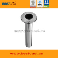 stainless steel flange - BEST METAL stainless steel mirror polish round flange fishing rod holder of marine hardware for boat and yacht fishing