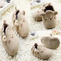 Wholesale Infants Toddler Baby Knit Crib Shoes Newborn Boy Girl Cartoon Shoes Elastic