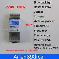 Wholesale 5 A V HZ display voltage current Positive reverse active reactive power Single phase Din rail KWH Watt hour energy meter A3