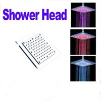 Wholesale 8 inch cm cm led showerheads colors changing with temperature rainfall shower head