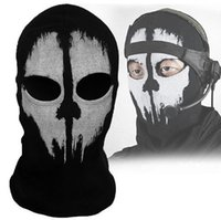 Wholesale Cool Balaclava Ghost Skull Bike Motorcycle Helmet Hood Ski Sport Neck Face Mask Brand New Good Quality