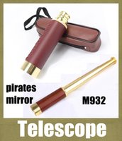Wholesale monocular X30 Brass Scalable To Stretch Zoom Monocular Maritime Nautical Pirate Telescope camera Ship Spyglass Scope vs binoculars OTH096