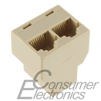cat5 rj45 socket - 1Pc RJ45 for CAT5 Ethernet Cable LAN Port to Socket Splitter Connector Adapter DropShipping
