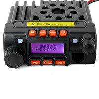 Civilian radio band cars - Mini Dual Band Mobile Vehicle Radio VHF136 MHz UHF400 MHz W UHF VHF W CH For Bus Taxi Car Handheld Mic A7166A