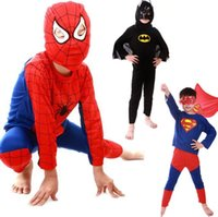 Teenage baby clothes superman - New Arrival spiderman superman batman children party cosplay costume kid s Halloween gift Baby Cosplay Clothes DK7701CP