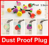 Wholesale Dust Proof Plug Anti Dust Cap Headphone Dustproof mm Fruit series Anti Dust Plug Iphone6 plus