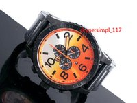 Wholesale 2015 New Arrivals A083 men s quartz fashion chrono watch Gradient color steel Wristwatches with original box christmas gift