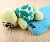 Wholesale Stuffed Green Turtle - Warm Winter Warm Stuffed Plush Turtle Eggs Cute Mobile Phone Shell for Apple iPhone 6 6S 6Plus 6Plus Protective Cover Free Shipping 100pcs