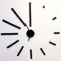 Wholesale D big size wall clock sticker Acrylic DIY Watch brief living room decoration horloge meeting room wall clock