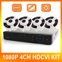 Wholesale 1080P HDCVI System Ch CVR Full MP Recording CVI DVR Kit P Indoor Fisheye Dome Camera CCTV System Degrees Panoramic View